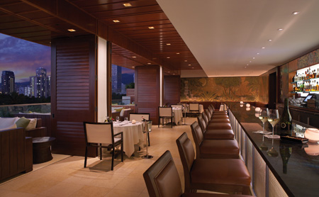 A look at Wai'olu Bar at the hotel.  Try the award winning Mai Tai;