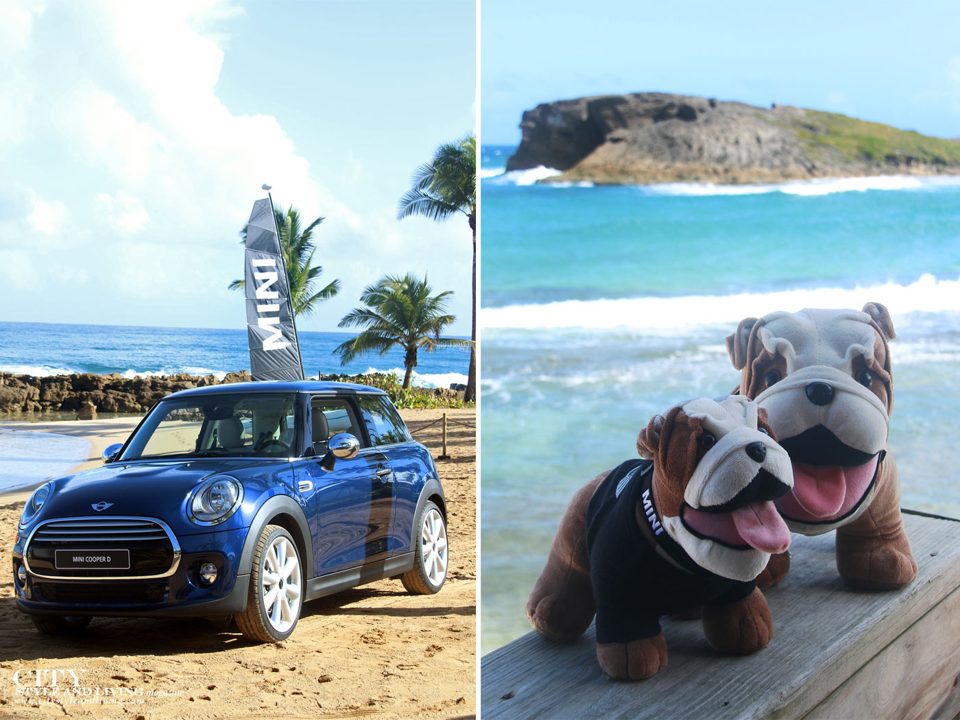 City Style and Living Magazine Mini Cooper S 2014 in Puerto Rico Beach