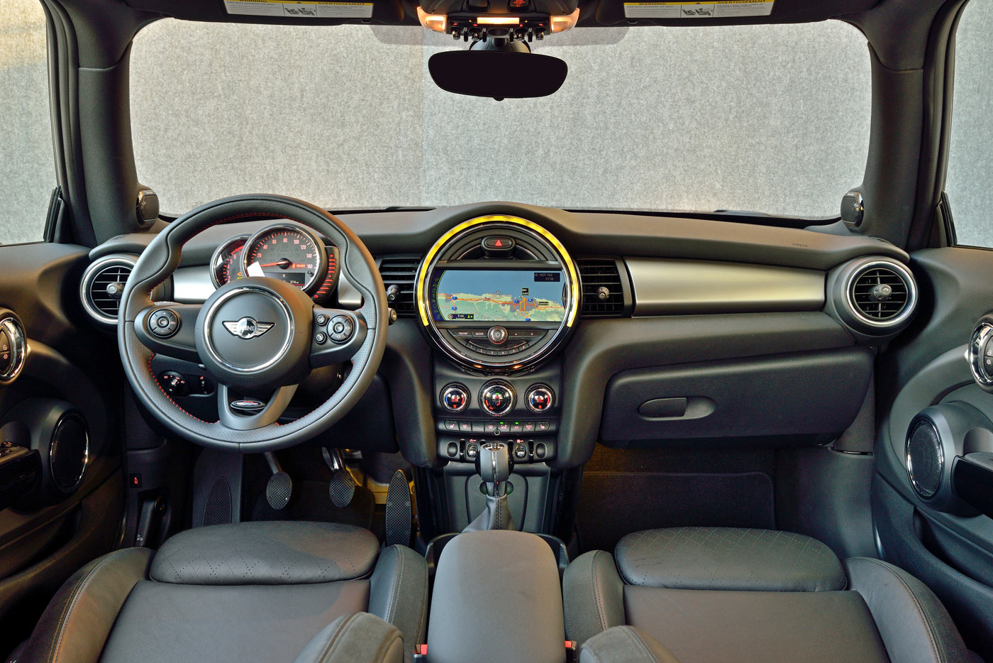City Style and Living Magazine Mini Cooper S 2014 interior of car
