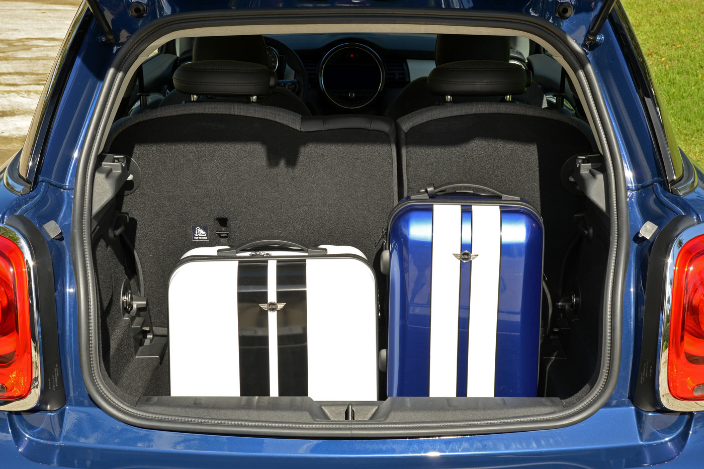 City Style and Living Magazine Mini Cooper S 2014 luggage in trunk