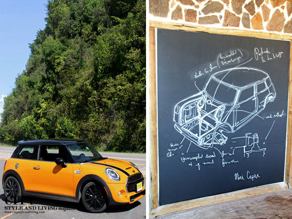 City Style and Living Magazine Mini Cooper S 2014 in Puerto Rico Beach sketch and on the road