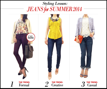 Styling ideas for summer jeans. The best jeans of summer 2014.