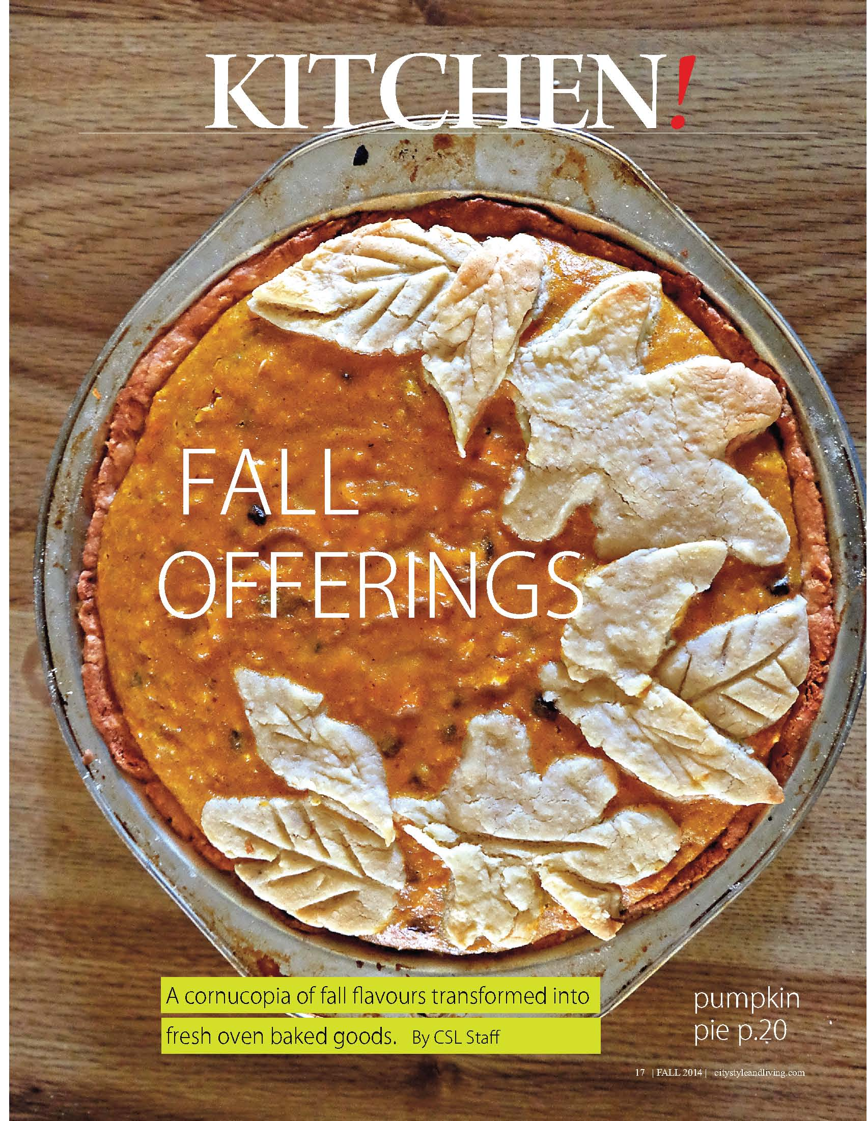City Style and Living Magazine Fall2014 Food Kitchen