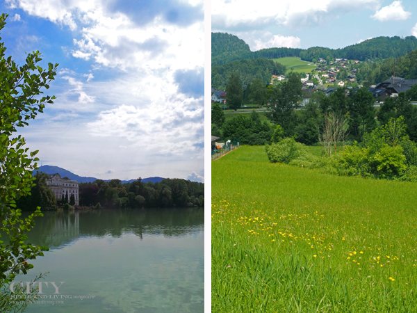 Leopoldskron Palace (the Von Trapp family home in the movie and typical hills are alive scenry