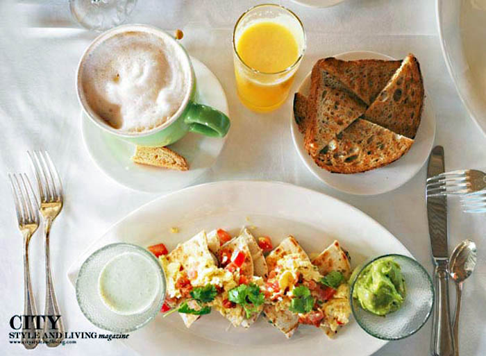 City style and living magazine style fashion blogger little palm island breakfast