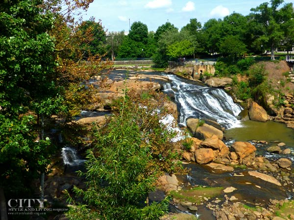 Greenville Falls Park on the Reedy