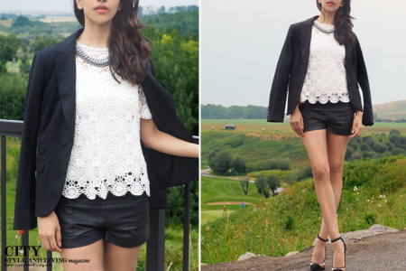 How to Wear Leather and Lace