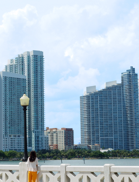 City style and living magazine style fashion blogger venetian causeway buildings miami