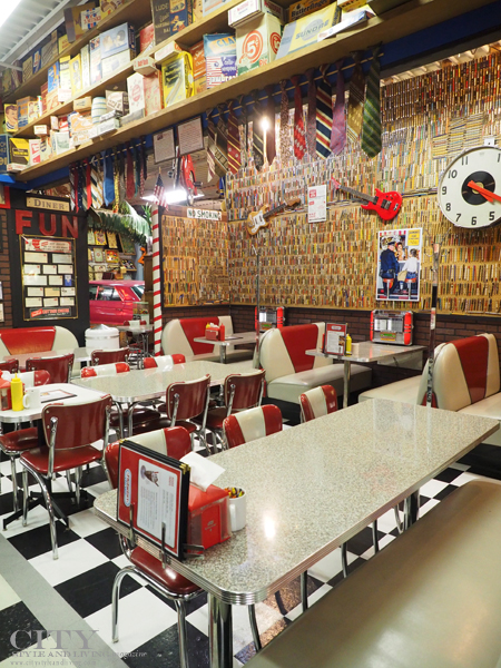 The authentic 1950's diner at Hollywood Candy