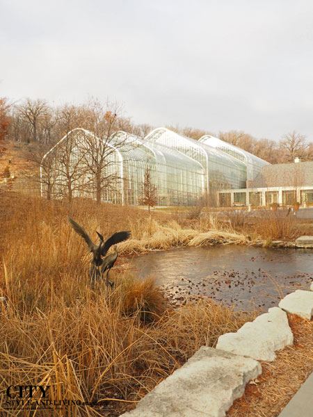 Exterior of Lauritzen Gardens in Omaha