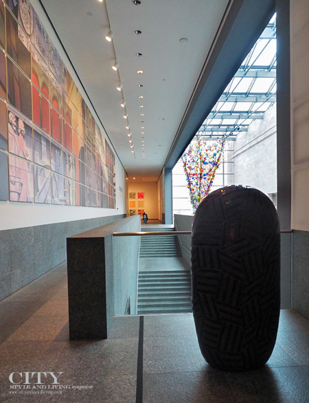 A look inside the Joslyn, including a Jun Kaneko sculpture