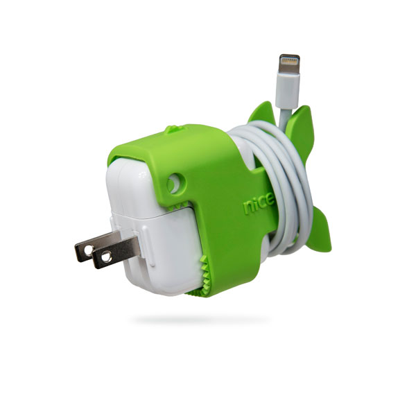 cable keeps nibbles in lightening green