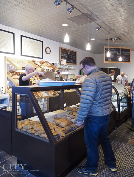 Inside Le Quartier Baking company.