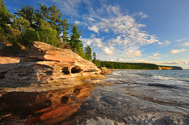 Mosquito Beach at Pictured Rocks National Lakeshore.