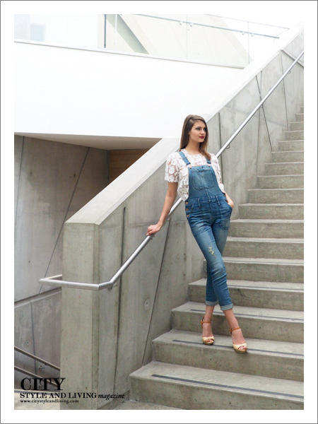 City Style and Living Magazine Fashion Editorial Telus Spark Summer 2015Staircase