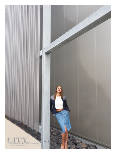 City Style and Living Magazine Fashion Editorial Telus Spark Summer 2015 Architecture Outside