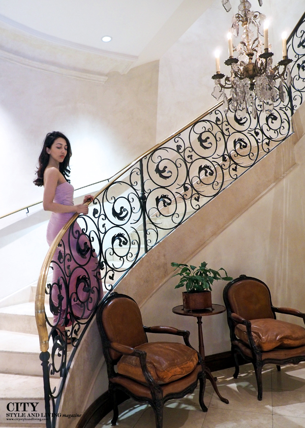 City Style and Living Magazine Healdsburg Fashion blogger hotel les mars stairs