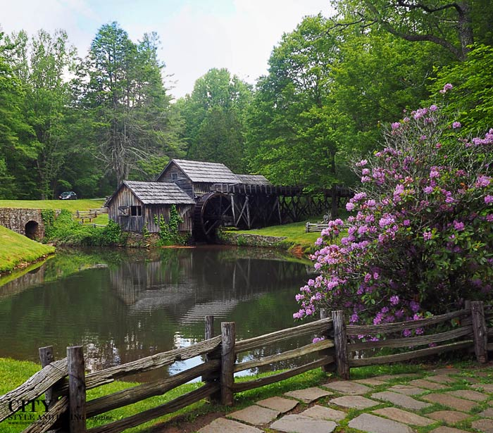 City Style and Living Magazine Mabry Mill Blue Ridge Parkway