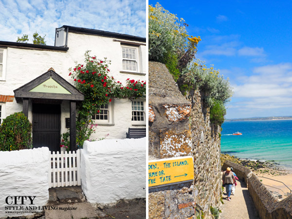 St Ives Cornwall House and Beach