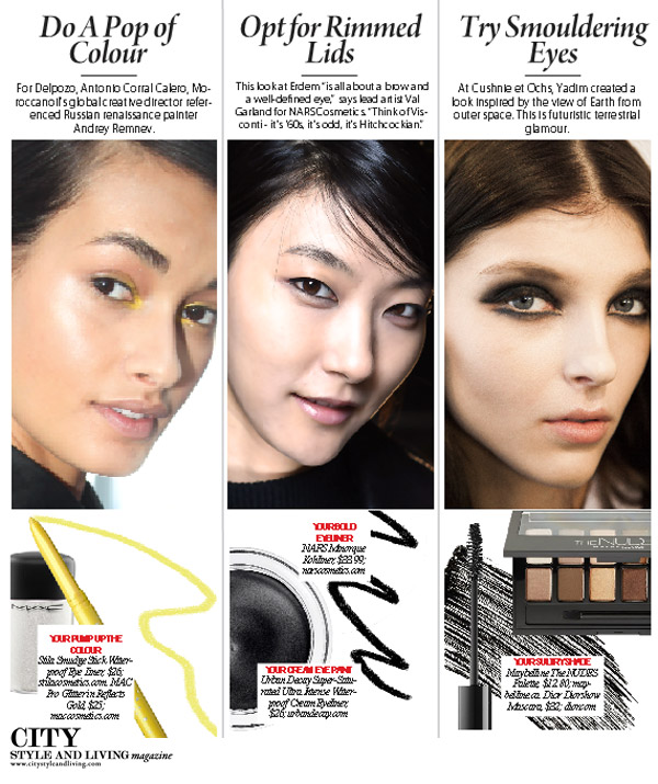 City Style and Living MAgazine Eye Makeup Fall 2015 beauty trends
