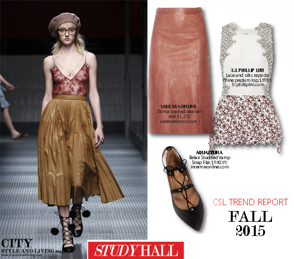 Fashion Trend Report fall 2015 city style and living magazine geek study