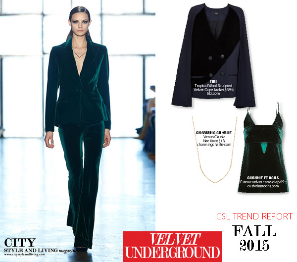 Fall 2015 Fashion Trend Report velvet underground