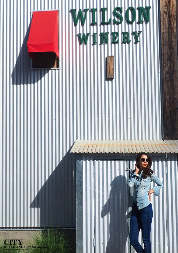 Wilson Winery Canadian Tuxedo denim style blogger tin barn Healdsburg