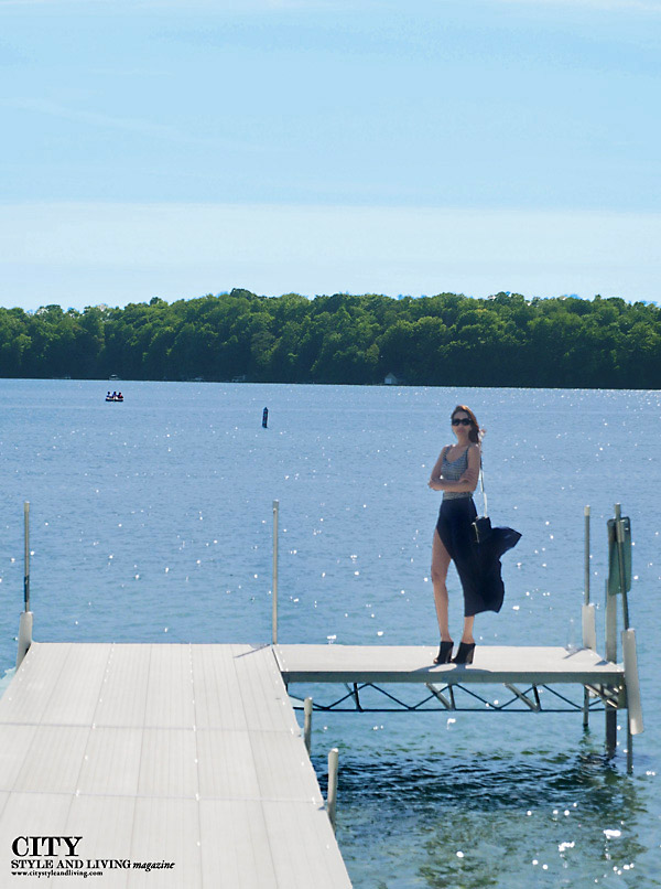 Elkhart lake wisconsin Style and fashion Blogger docks the osthoff