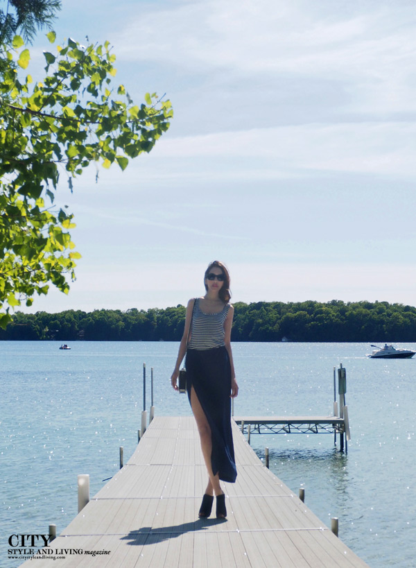 Elkhart lake wisconsin Style and fashion Blogger docks