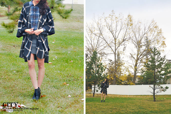city style and living magazine calgary style blogger tartan plaid lor & taylor aldo equipment
