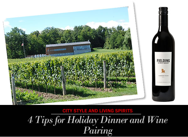Fielding Wine Dinner Pairing for Holiday City style and living magazine