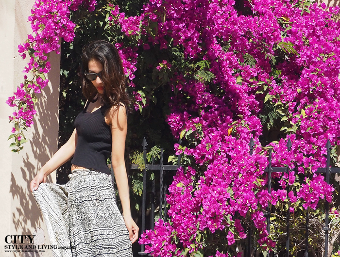 City style and living magazine calgary style fashion blogger downtown loreto mexico walking pretty flowers