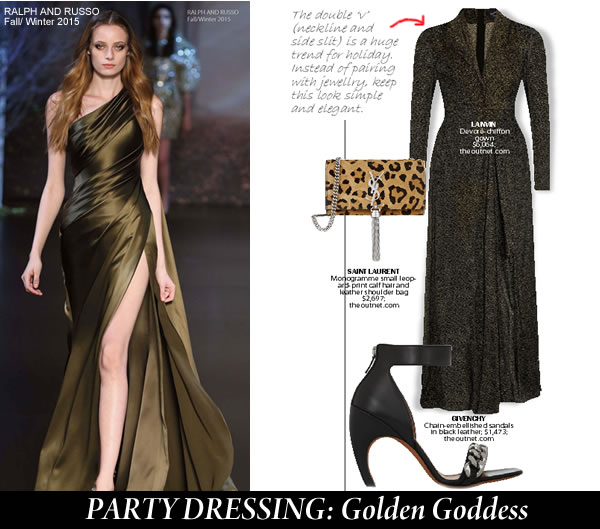 Golden Goddress holiday dressing City Style and Living Magazine
