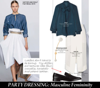 Masculine Femininity city style and living magazine party dressing