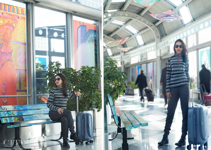 City style and living magazine style fashion blogger airport style chicago