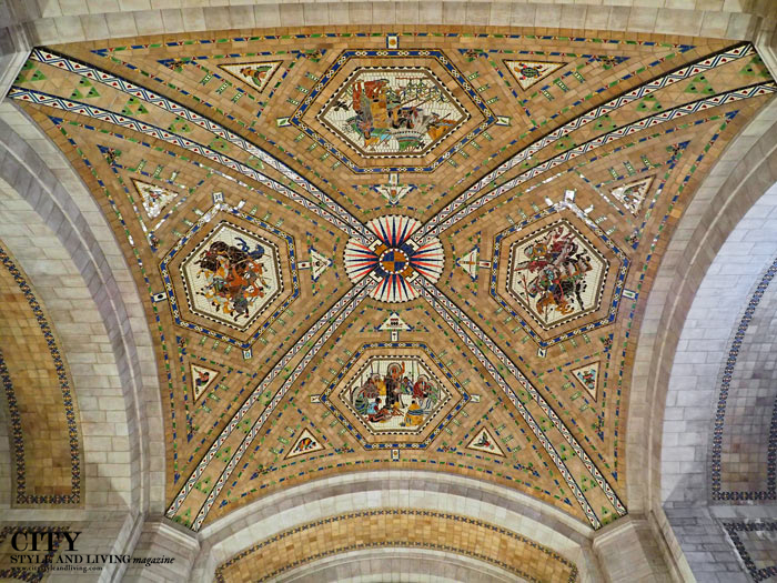 Mosaic on ceiling of the Nebraska State Capitol
