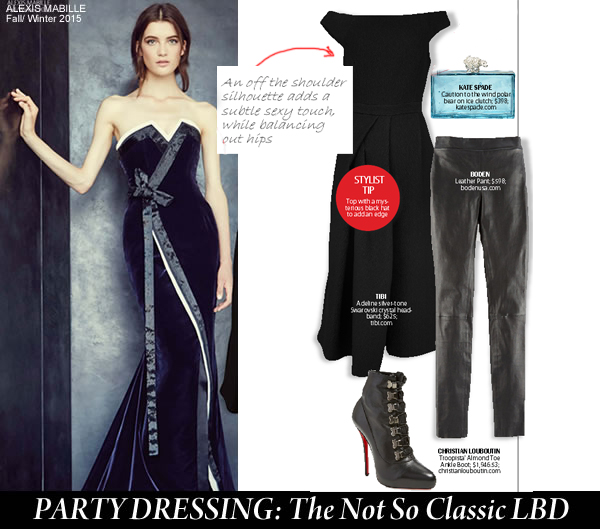 City Style and Living Magazine party dressing Little Black Dress