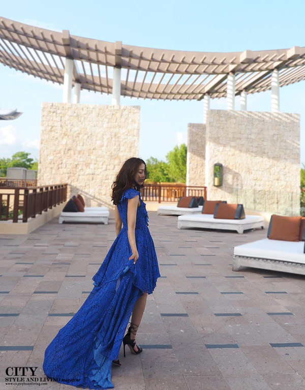 City style and living magazine style fashion blogger banyan tree maayakoba maxi dress rooftop