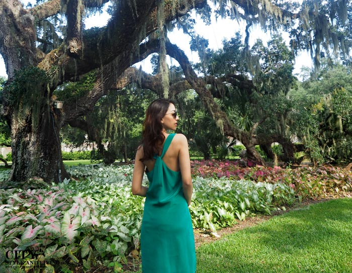 City style and living magazine style fashion blogger myrtle beach brookgreen gardens style blogger back of dress