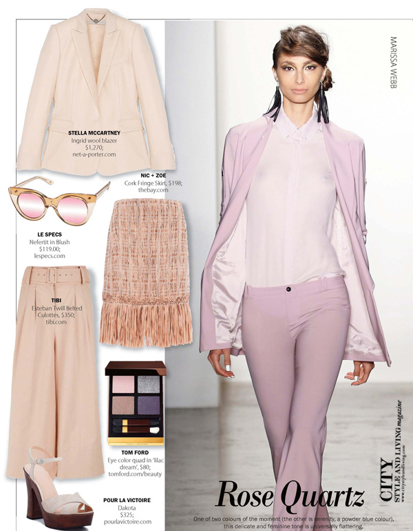 City Style and Living Magazine Rose Quartz for Spring 2016