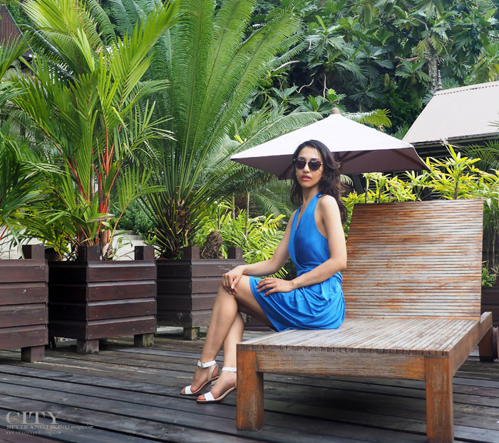 City style and living magazine style fashion blogger Saint Lucia Boucan Hotel Chocolat BCBG Max Azria pool