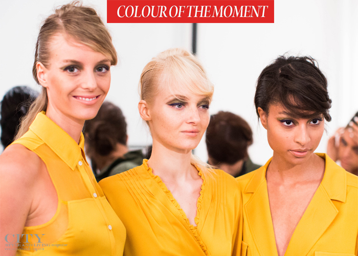 city style and living magazine canary yellow summer 2016 fashion trends backstage