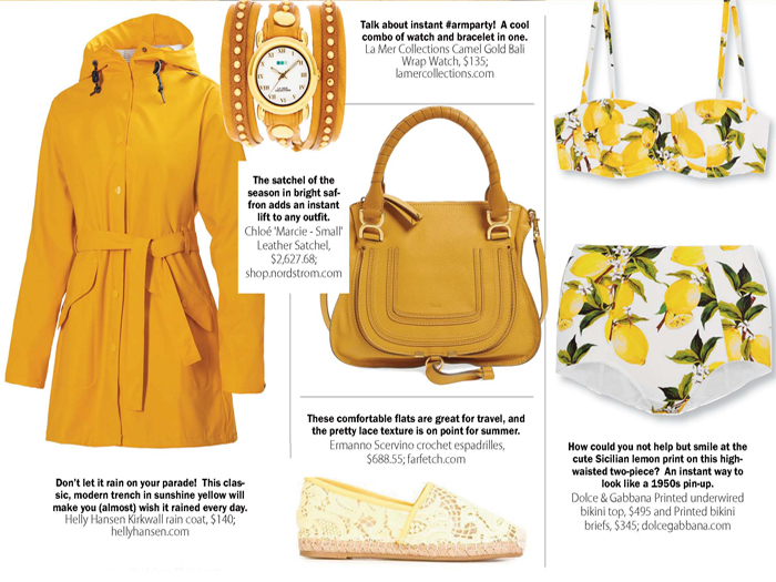 city style and living magazine canary yellow summer 2016 fashion trends