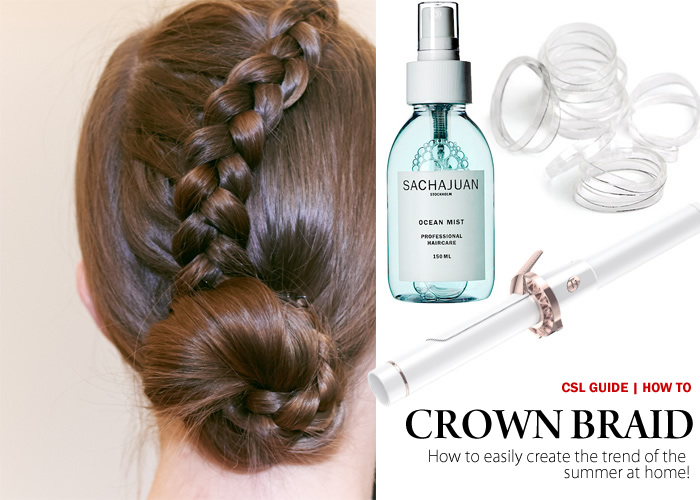 City Style and Living Magazine easy how to crown braid