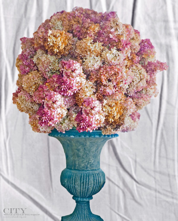 city style and living magazine Hydrangea Blue Urn