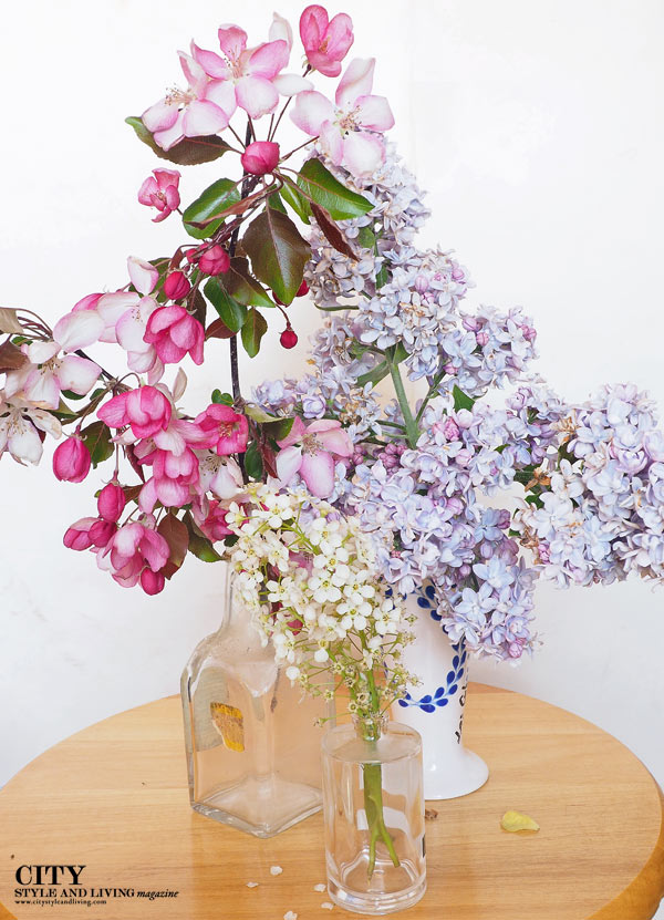 City Style and Living Magazine Lilac Arrangement