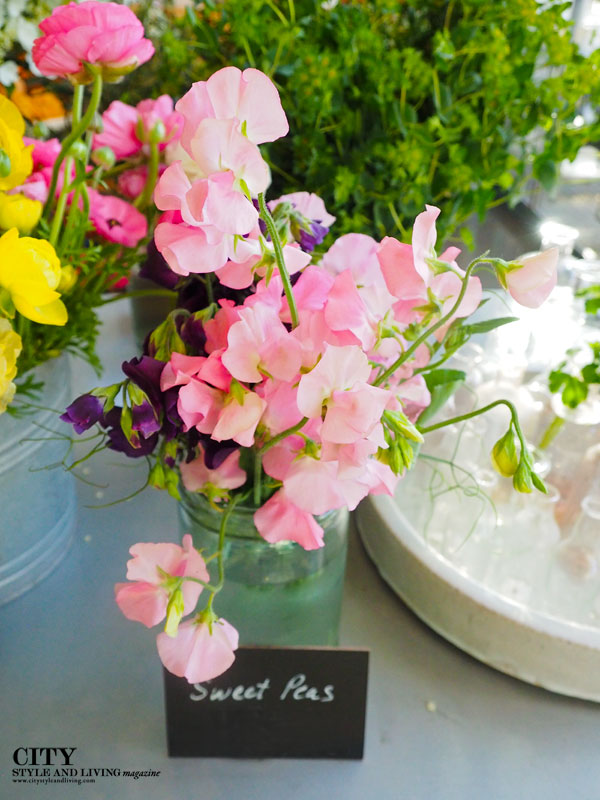 city style and living magazine Sweet Pea Arrangement