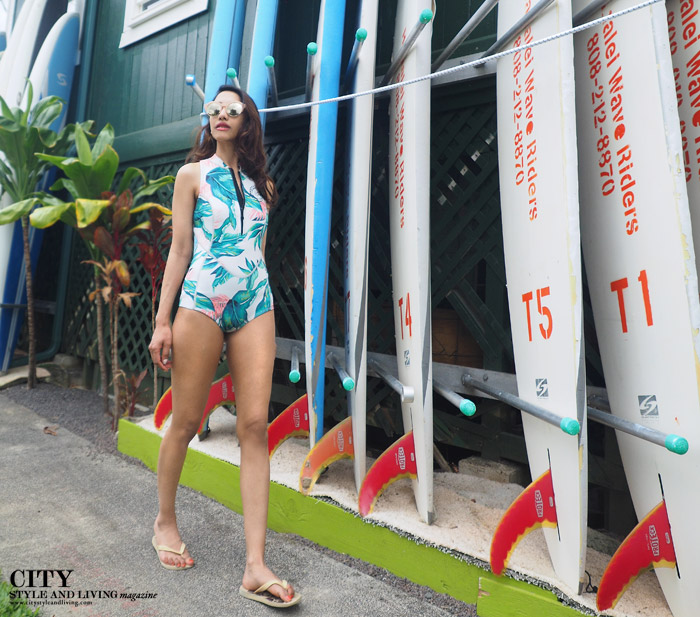 City style and living magazine Editors Notebook style fashion blogger Kauai Billabong wetsuit surfboards