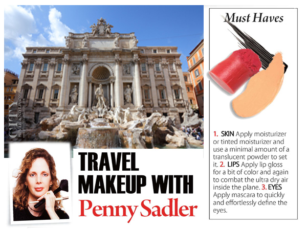 City Style and Living Magazine Travel Makeup