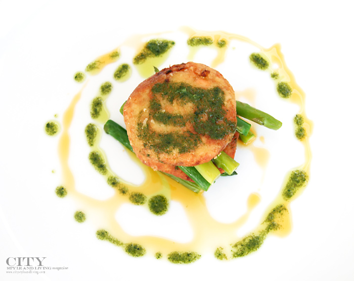 city style and living magazine fish cake with mint pesto